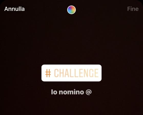 adesivo challenge instagram story