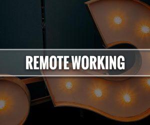 remote working significato