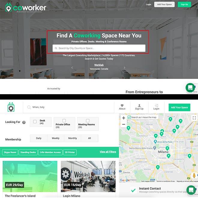 Coworker sito ricerca desktop