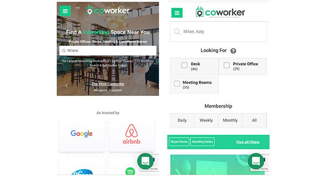 Coworker.com sito ricerca spazio coworking