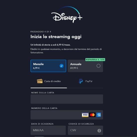 Pagamento Disney+
