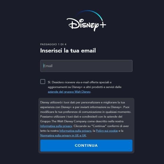 email Disney+
