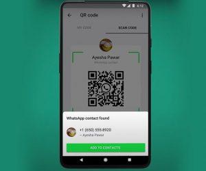 WhatsApp codice QR contatti