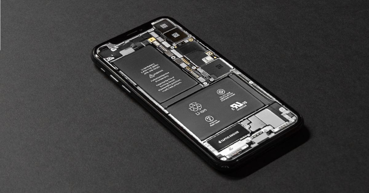batteria di uno smartphone