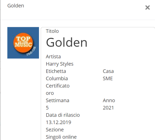 Golden disco d'oro
