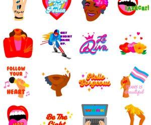 Sticker donne Facebook Instagram