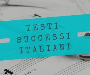 testi canzoni italiane