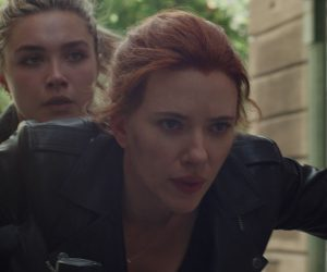 Scarlett Johansson nei panni di Natasha Romanoff in Black Widow