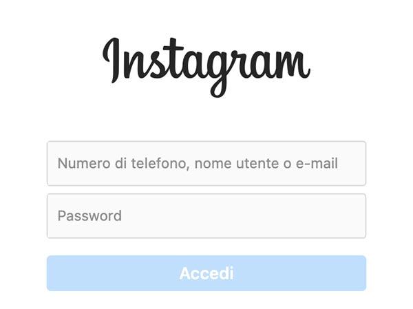 accesso Instagram