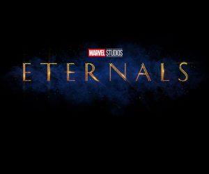Eternals logo titolo film Marvel
