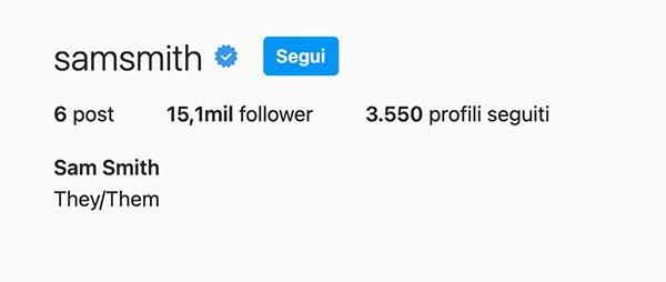 Bio Instagram Sam Smith