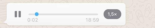 Whatsapp velocità audio