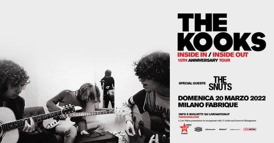 The Kooks locandina concerto
