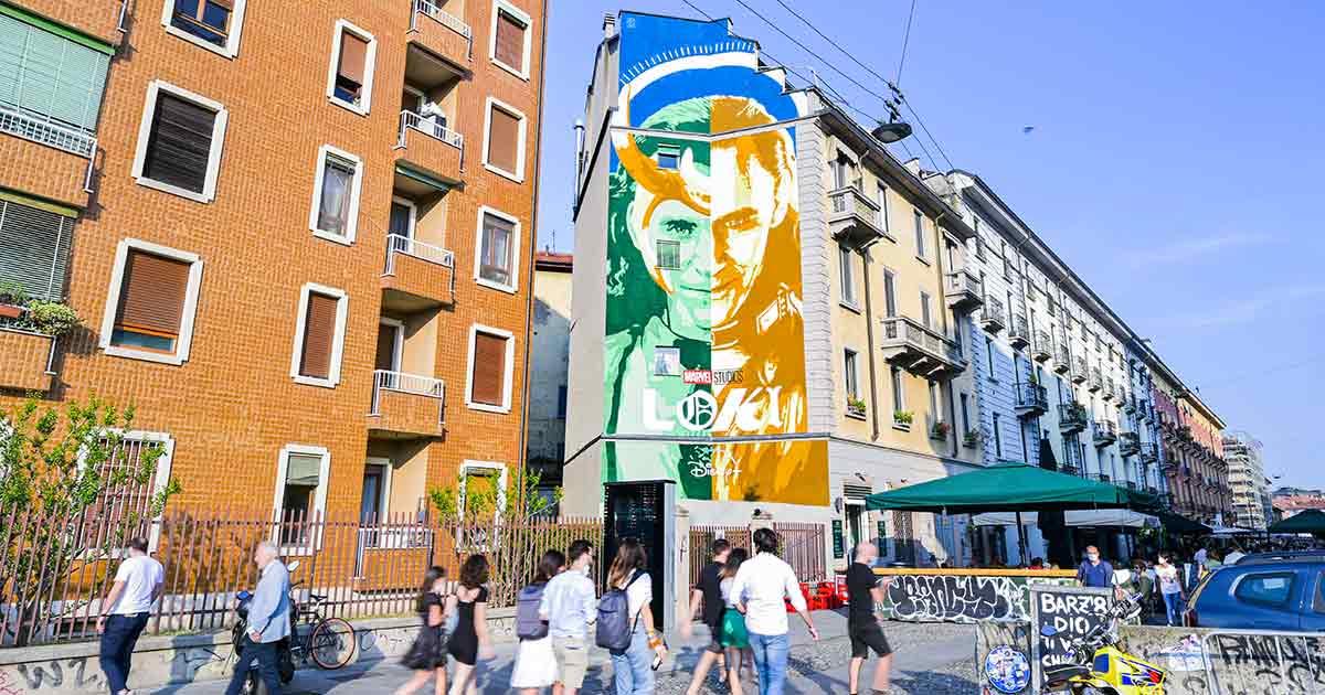 Loki Murales Lucamaleonte Via Casali Milano