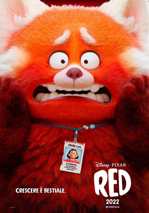 Red teaser poster film Disney Pixar 2022