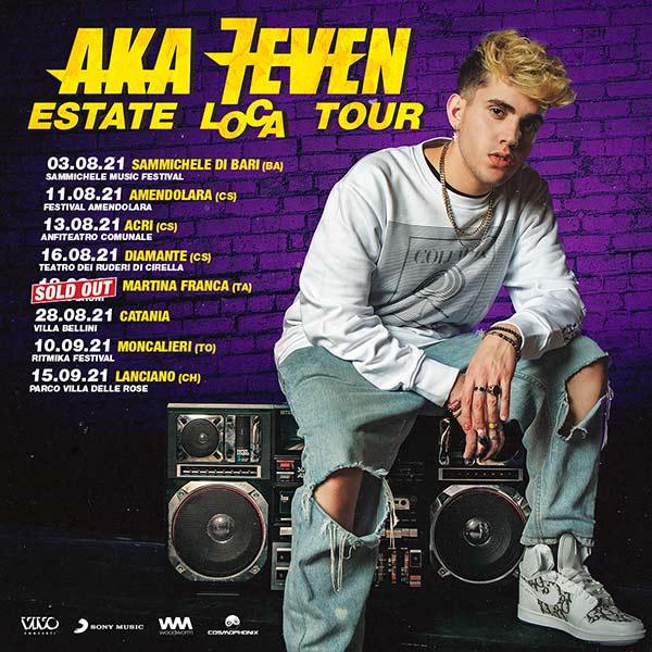 Aka7even Tour estate 2021 concerti