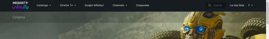 mediaset infinity barra